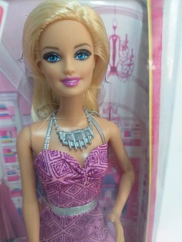barbie fashionistas 2014 looks dream house - vestido lilás