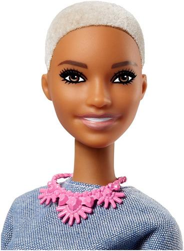 barbie fashionistas 82 negra  careca lançamento