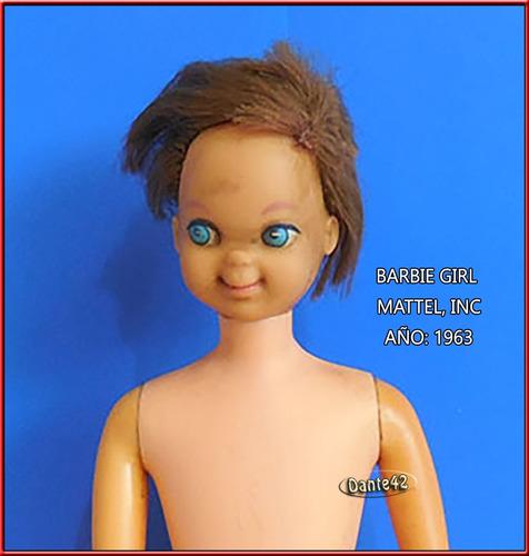 barbie girl antiguo de coleccion 1963 mattel japan