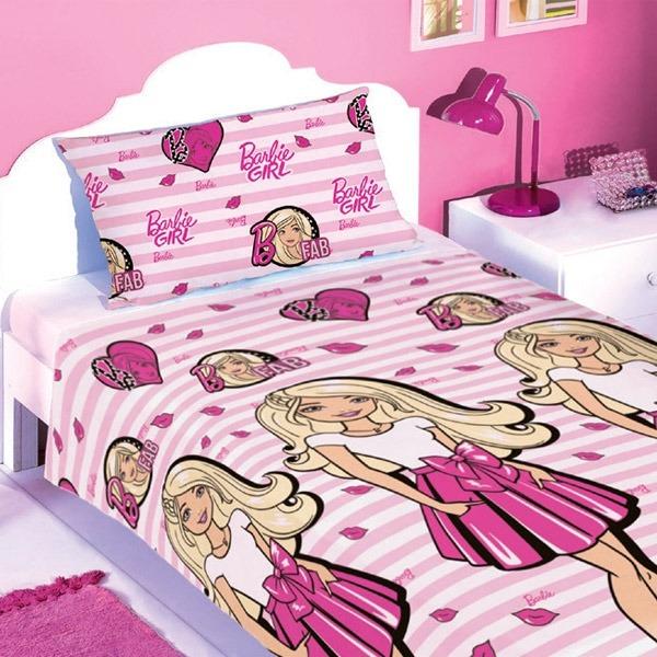4127ac7f2d Barbie Girl Jogo De Cama 2 Peças Lençol Fronha Catálogo Avon - R  99 ...