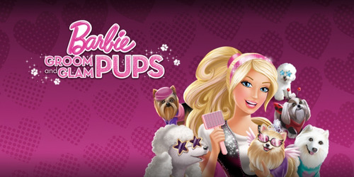 barbie groom and glam pups nintendo ds - impecável só mídia