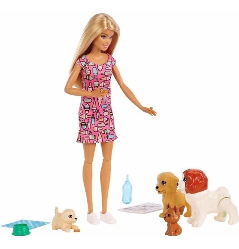 barbie - guarderia de perritos - mattel