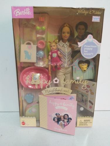 barbie happy family midge nikki vizinha cachorro amiga ruiva