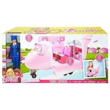 barbie jet glamour avión glam incluye barbie