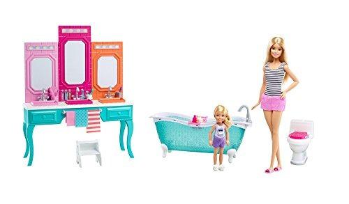 barbie juego de baño chelsea