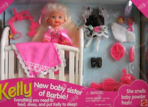 5b9c63aad161b Barbie Kelly ¡nueva Hermana Del Bebé De Barbie! Set (1994 ...