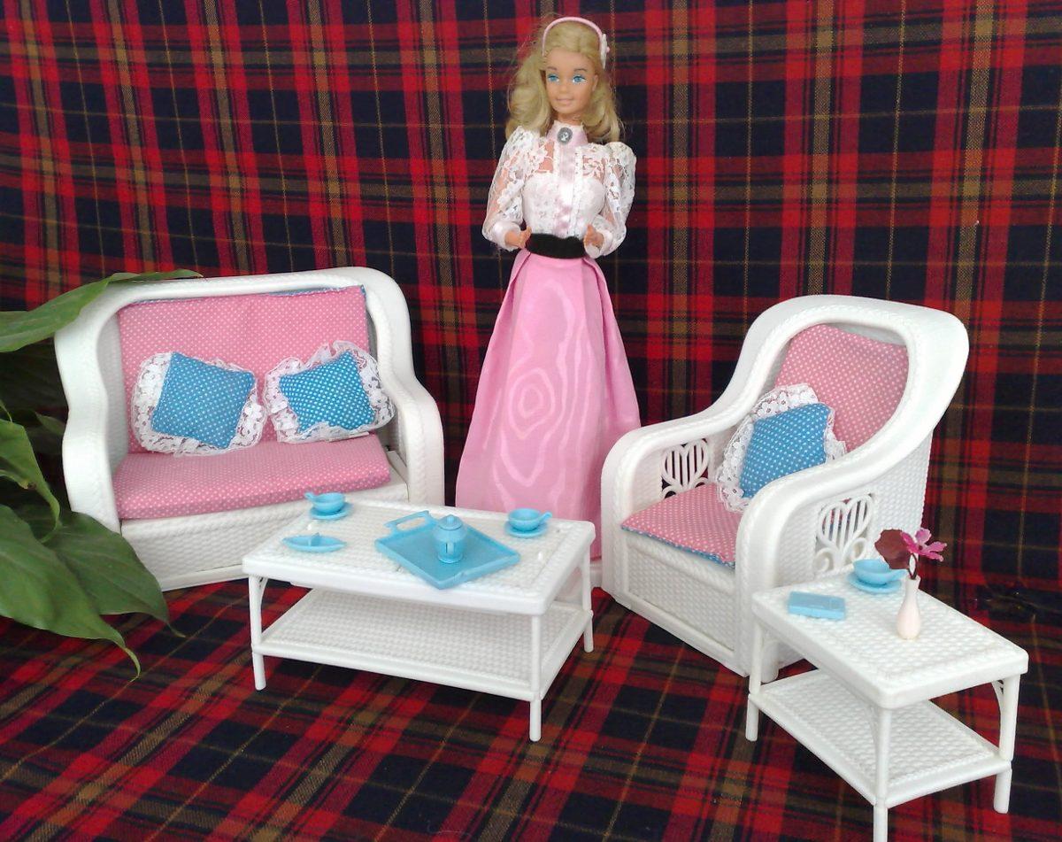Barbie Kissing Original De Los 80s Y Su Sala De Rattan Lujo ...