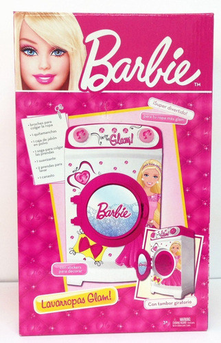 barbie lavarropas glam tambor giratorio original miniplay