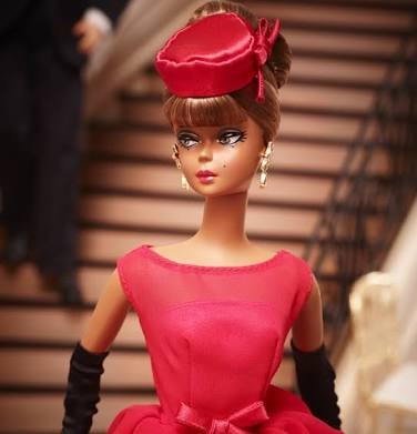 barbie little red dress en material silkstone