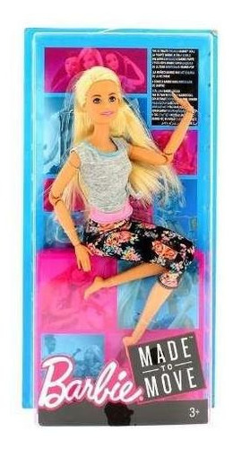 barbie made to move - articulada - rubia - mattel