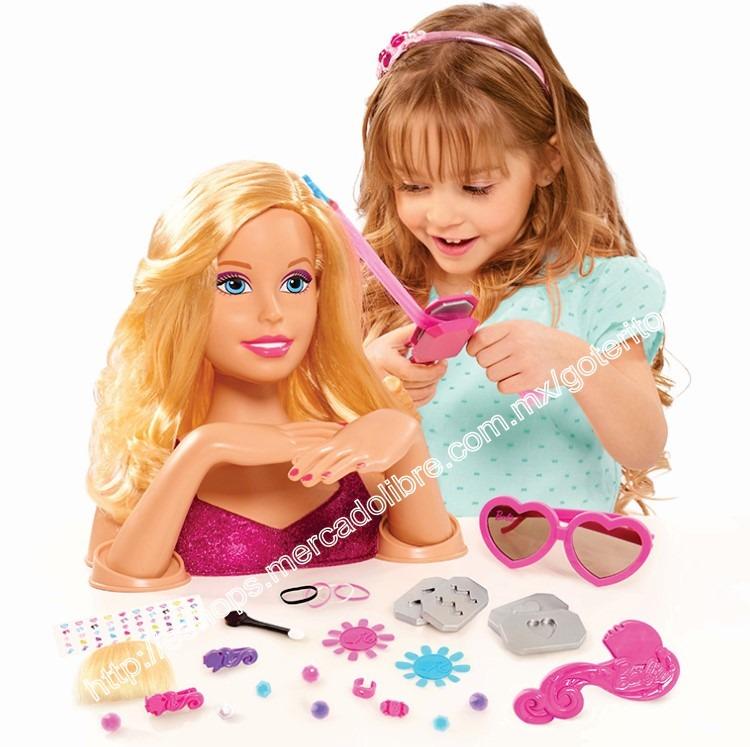 barbie maniqui de lujo para peinados maquillaje uñas rubia