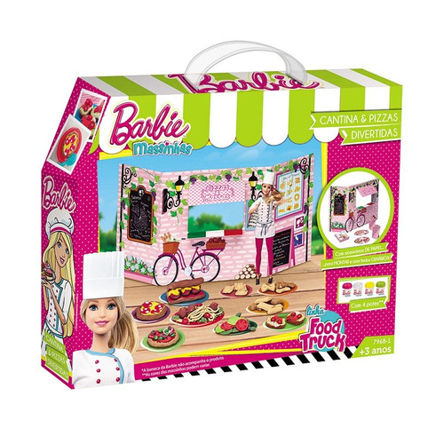 barbie massinha food truck cantina e pizzas - fun