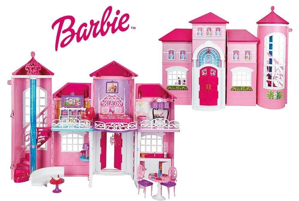 Barbie mattel mansi n malib casa de la barbie juguetes for Barbie casa malibu