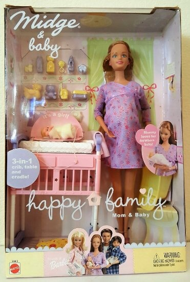 Barbie Midge Amp Baby Happy Family Mattel Vintage R 980