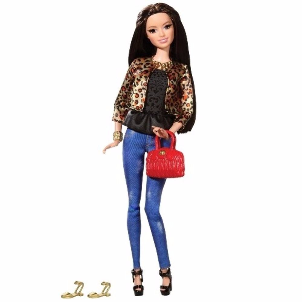 Barbie Morena Raquelle Fashion Style Luxo Dia Das Crian As