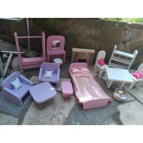 Barbie. Muebles Y Accesorios 14 Piezas Más Almoha Para Casas