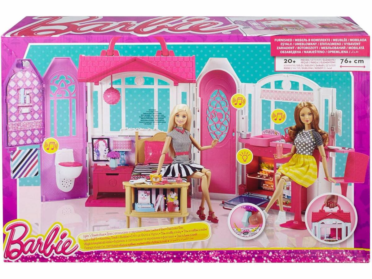 Barbie nova casa f rias com luz som e m veis cld97 mattel - Casas de princesas ...