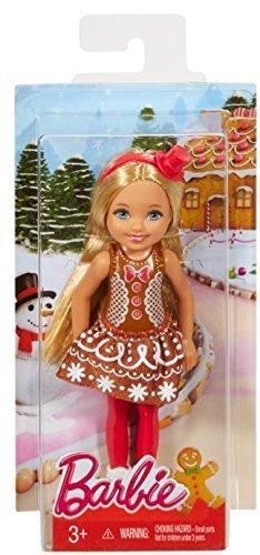 barbie original chelsea muñeca navidad en jengibre vestido