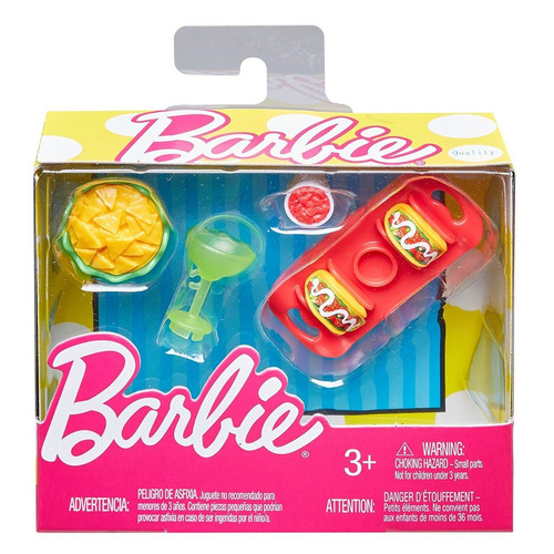 barbie pack acessórios - taco comida  - para bonecas