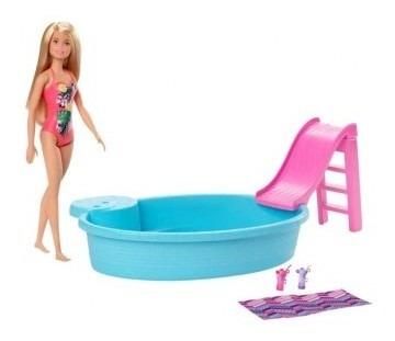 barbie piscina glam con muñeca barbie piscina glam c tk841