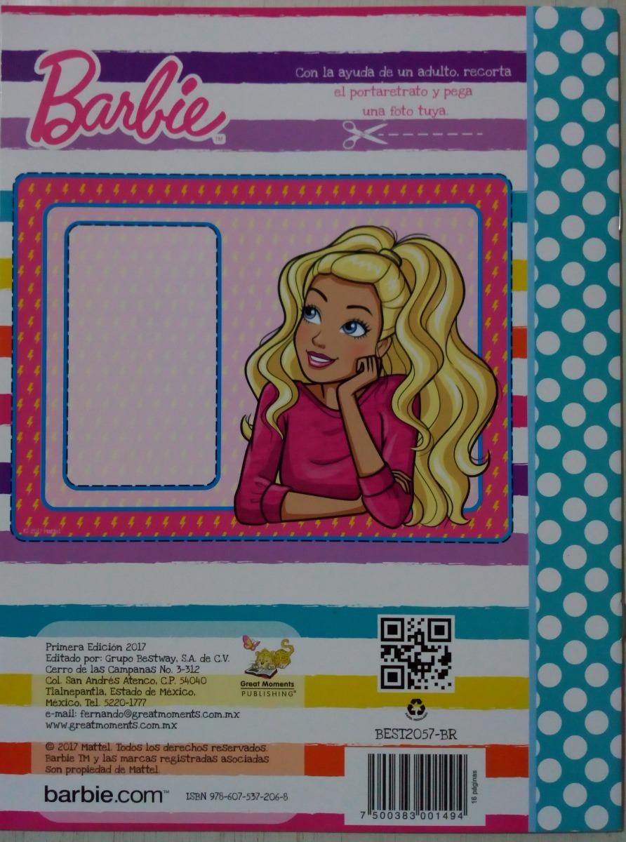 Barbie Princesa Paq 6 Libros Fiesta Iluminar Colorear Mattel ...