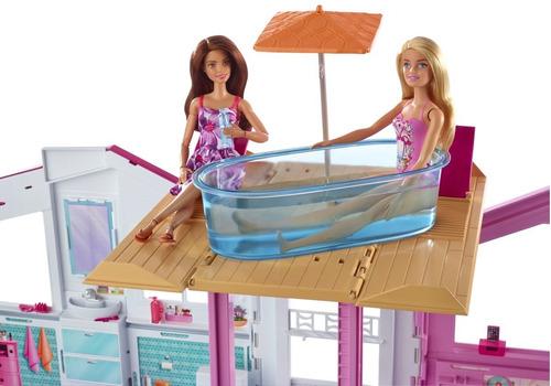barbie real super casa 3 andares - mattel