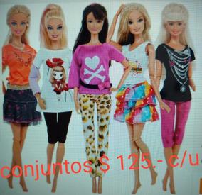c9bb3d6e3 Barbie Ropita Accesorios Calza Remera Pollera Legins Vestido