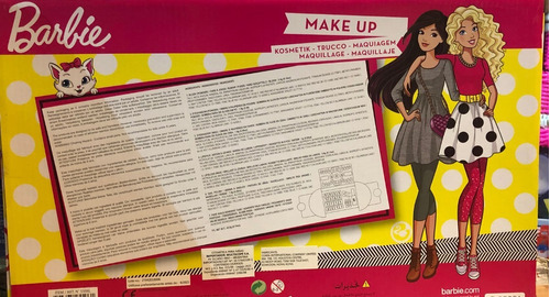 barbie set de maquillaje infantil cosmeticos y uñas titanweb