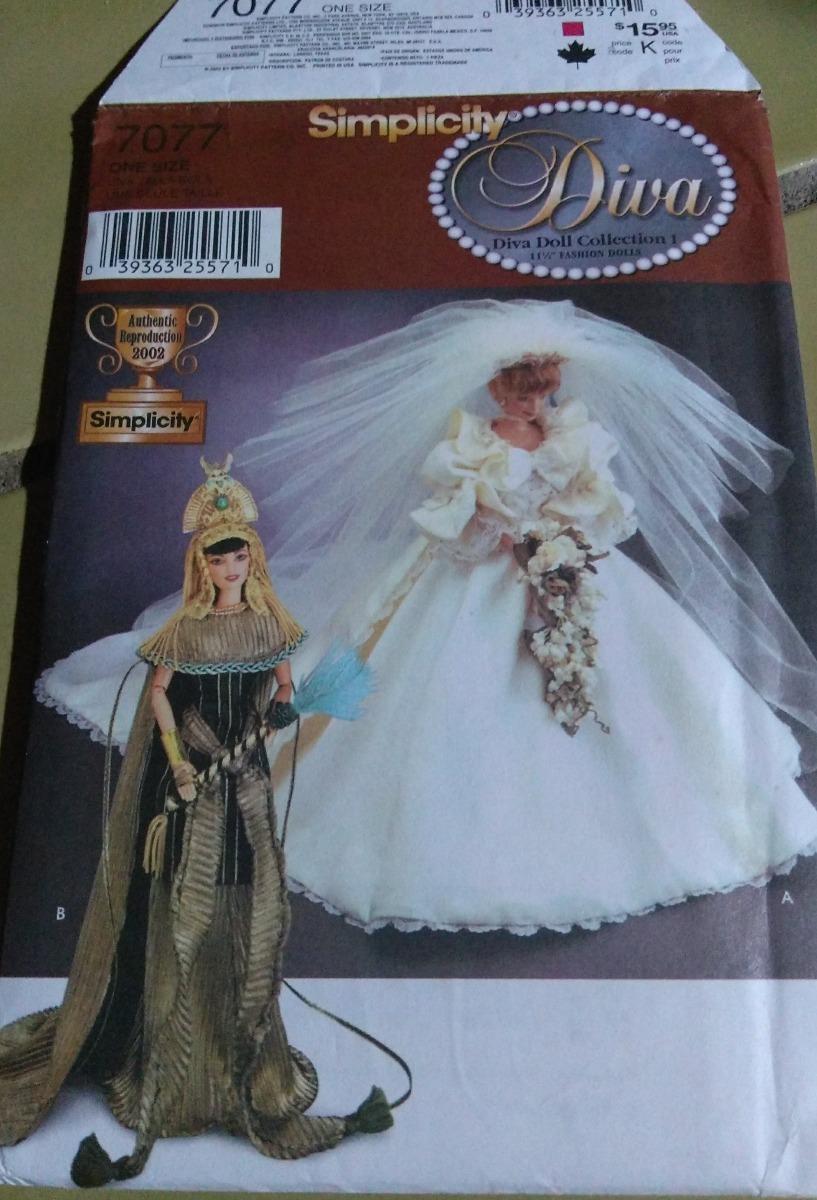 Barbie - Simplicity 7077 - Moldes Roupas De Barbie - R$ 30,00 em Mercado  Livre