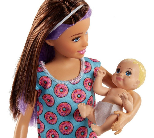 barbie skipper babysitters inc. niñera muñeca bebe y cuna