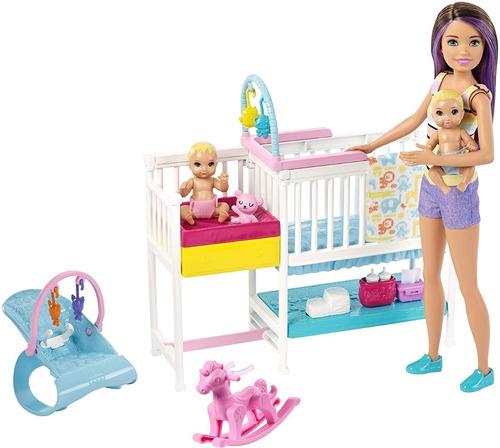 barbie - skipper guardería de bebés - gfl38