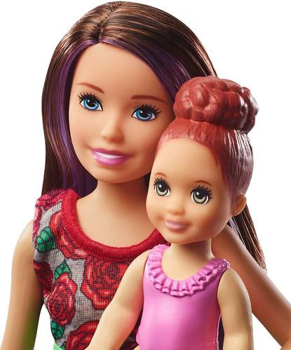 barbie skipper niñera hora de baño mattel fxh05 muñeca