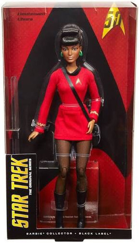 barbie star trek uhura 50 aniversario black label nueva