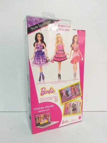barbie style spotlight raquelle vestido roxo