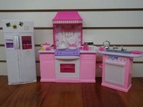 Tamaño Barbie Set Muebles Dollhouse Cocina EYeD9WH2I