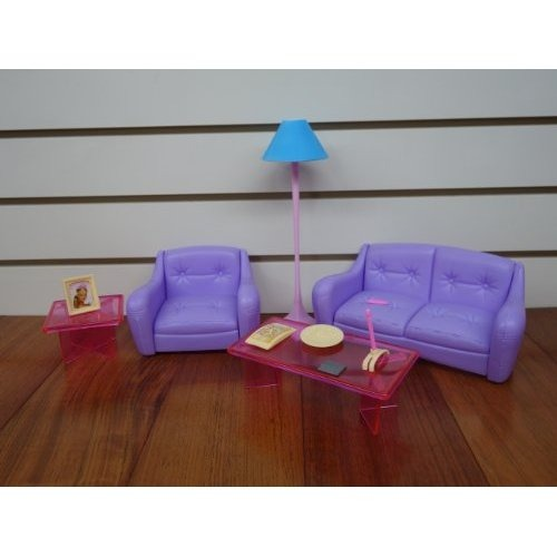 Barbie tama o dollhouse muebles sala de estar con tv for Sala de estar barbie