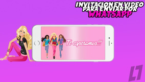 Barbie Tarjeta Invitación Virtual En Video Whatsapp