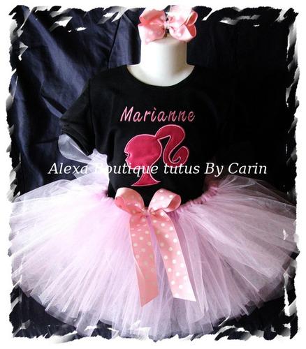 barbie tutu set vestido polo falda bordado