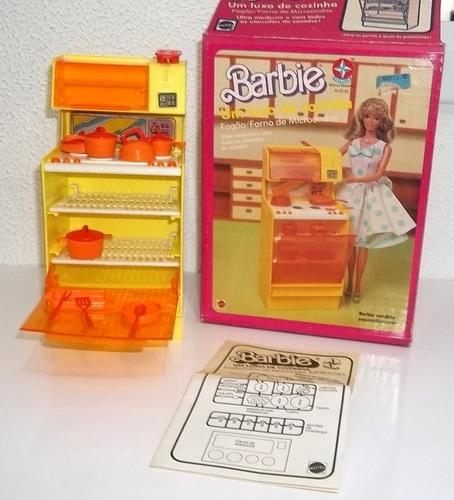 barbie um luxo de cozinha completo c/ caixa estrela anos 80