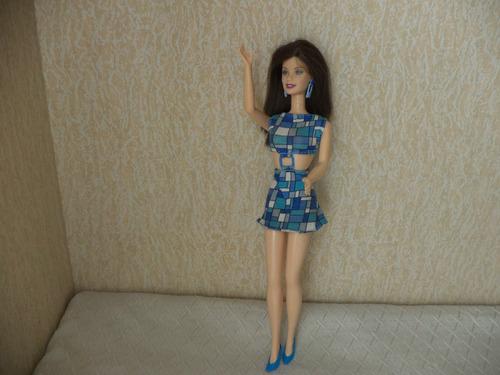 barbie vestida de azul