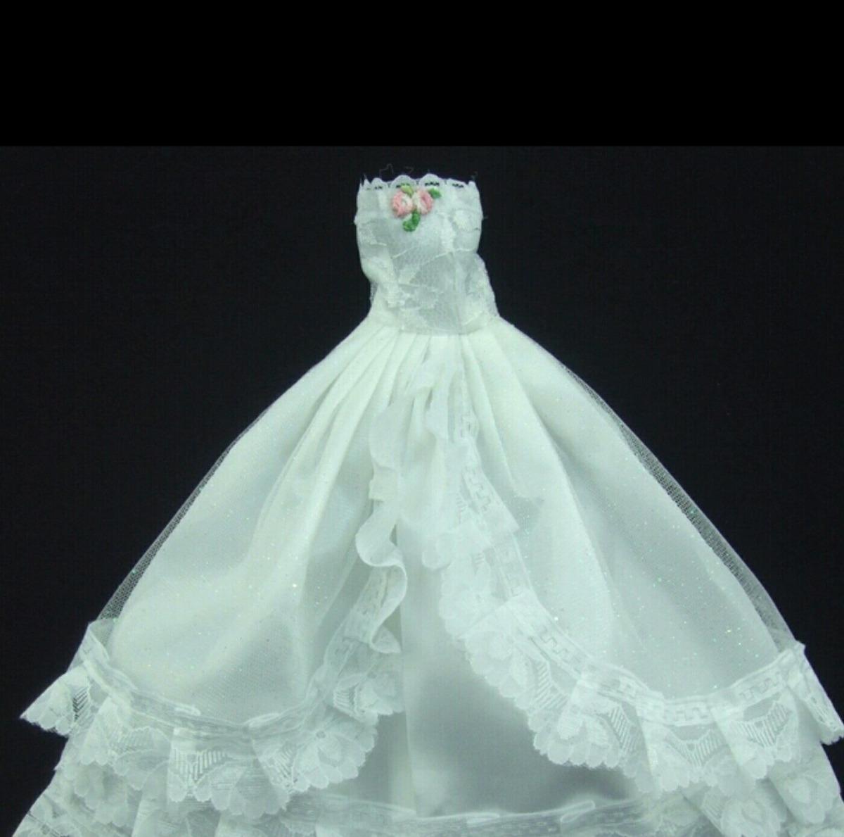 Barbie Vestido De Novia Y Traje De Novio ( Tamaño Barbie) - $ 45.000 ...