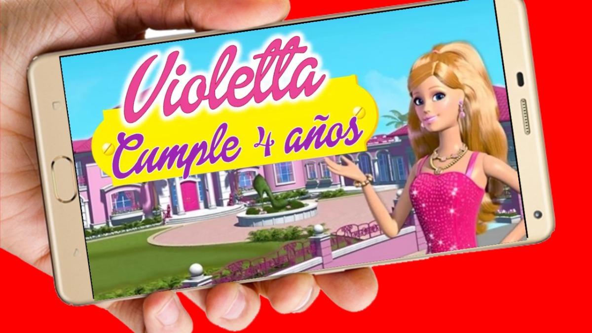 Barbie Vídeo Tarjeta Invitación Cumpleaños Whatsapp Digital