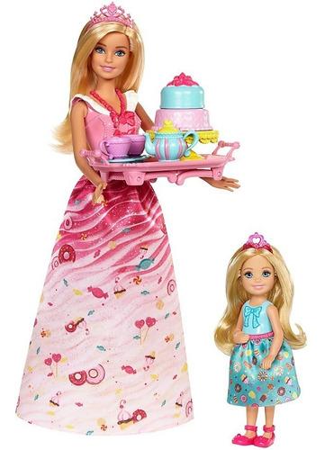 barbie y chelsea dreamtopia princesa juego de te