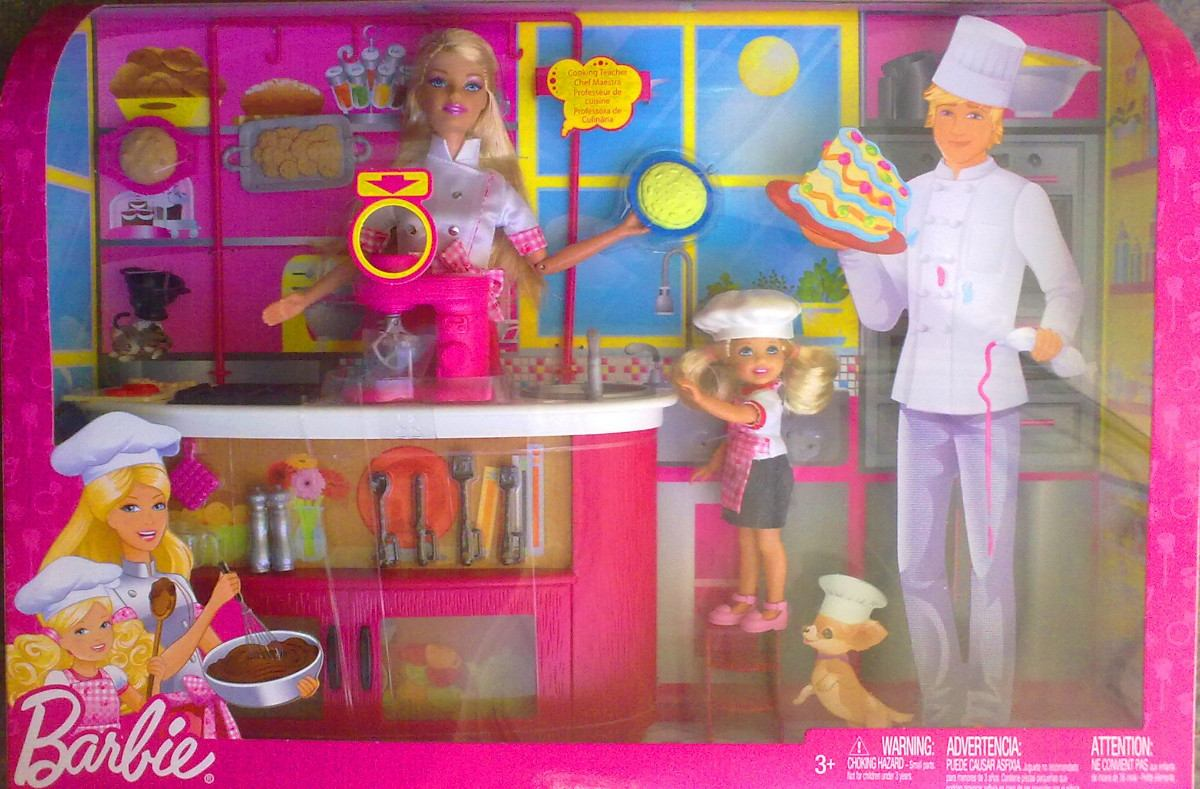 Barbie y kelly gran set de chef con mobiliario y for Accesorios para chef