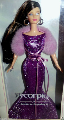 barbie zodiac scorpio collector edition pink label