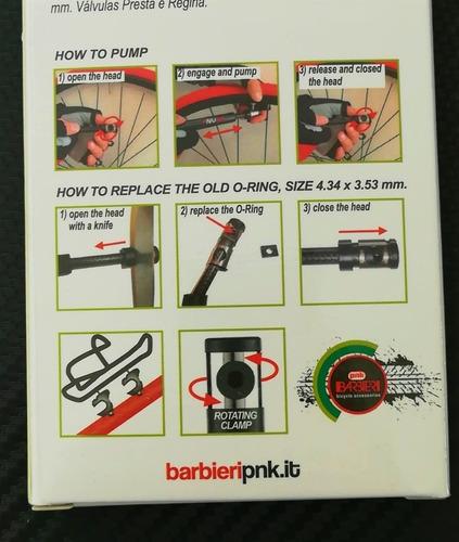 barbieri pnk, micro bomba de fibra de carbono y titanio