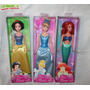 Barbie Disney Princesas Blancanieves, La Cenicienta Y Ariel