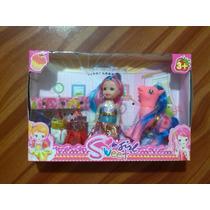 Combo De Muñeca Barbie Con Hija Trae Un Ponny De Calidad