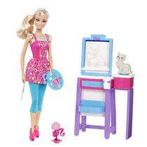 Muñeca Barbie Quiero Ser Profesora De Arte, Original