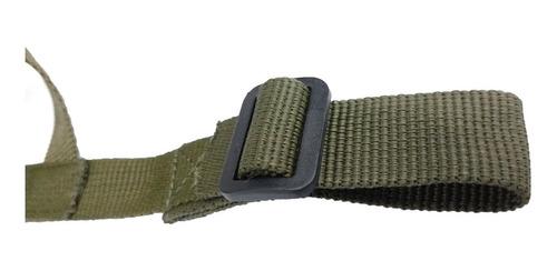 barbijo mentonera para casco m-1 verde